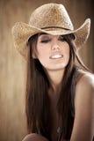 美丽的性感的女牛仔 库存照片