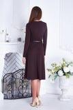 美丽的性感的妇女衣物编目时髦的时尚礼服 免版税库存照片