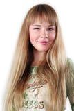 美丽的性感的微笑的妇女年轻人 免版税库存照片