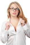 美丽的性感的护士 库存图片
