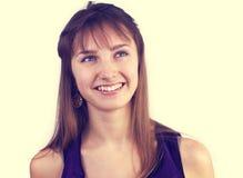美丽的愉快的妇女年轻人 库存图片