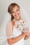 美丽的愉快的新娘 库存图片