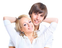 美丽的愉快的年轻人 免版税库存照片