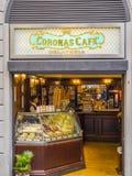 美丽的意大利咖啡馆在佛罗伦萨-佛罗伦萨/意大利- 2017年9月12日的历史的市中心 库存图片