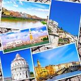 美丽的意大利的拼贴画 库存照片