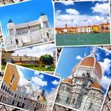 美丽的意大利的拼贴画 免版税库存照片