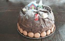 美丽的意大利节日糕点,典型的甜传统意大利国民 免版税库存照片