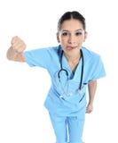 美丽的成功的护士医生-医疗保健工作者 免版税库存图片