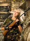 美丽的战士妇女 免版税库存照片