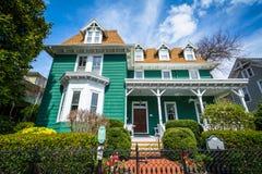 美丽的房子在刘易斯,特拉华 免版税库存图片