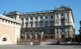 美丽的房子在城市 建筑学维也纳奥地利10 10 2017年 库存照片