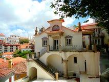 美丽的房子在辛特拉 免版税库存照片