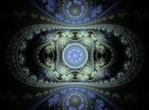 美丽的抽象分数维曲线和装饰品 皇族释放例证
