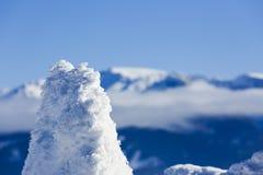 美丽的抽象风景冬天山 免版税图库摄影
