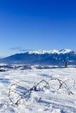 美丽的抽象风景冬天山 库存图片
