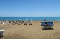 美丽的拉拉海滩在安塔利亚,土耳其 库存图片