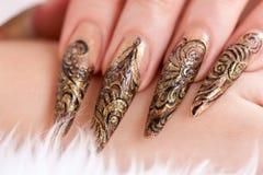 美丽的指甲盖现有量人 图库摄影
