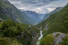 美丽的挪威山 库存图片