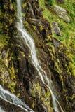美丽的挪威瀑布 惊人的挪威自然大局 图库摄影