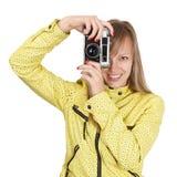 美丽的摄影师 库存图片