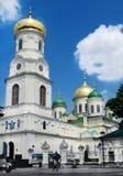美丽的教会在市中心第聂伯罗彼得罗夫斯克 乌克兰纳 免版税库存照片
