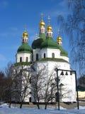 美丽的教会在Priluky在乌克兰 图库摄影