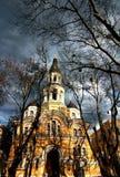 美丽的教会t在阳光下在傲德萨 免版税库存图片