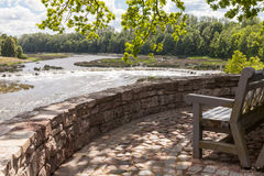 美丽的文塔河瀑布 免版税库存图片