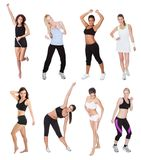 美丽的新健身妇女 库存图片