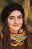 美丽的新十几岁的女孩纵向  库存图片