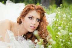 美丽的新娘。 免版税图库摄影