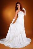 美丽的新娘在演播室 库存照片