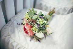 美丽的新娘婚礼花束 库存照片