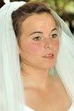 美丽的新娘强调说 免版税库存照片