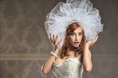 美丽的新娘纵向婚礼年轻人 图库摄影