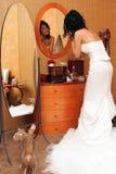 美丽的新娘纵向 免版税库存图片