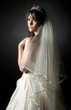 美丽的新娘被射击的少年 图库摄影