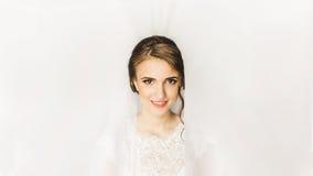 美丽的新娘年轻人 早晨新娘 库存图片