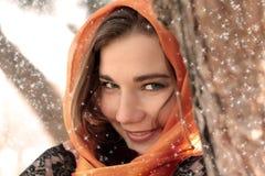 美丽的新微笑的妇女 免版税图库摄影