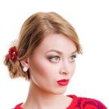美丽的新白肤金发的妇女 免版税库存照片