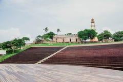美丽的新的圆形露天剧场在普拉塔港,多米尼加共和国 图库摄影