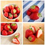 美丽的新鲜的草莓 免版税图库摄影