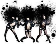 美丽的方式纵向性感的w妇女年轻人 库存图片