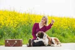 美丽的旅行家女孩 库存图片