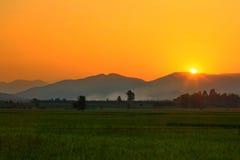 美丽的日出天空剪影 库存照片