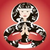 美丽的日本妇女 向量例证