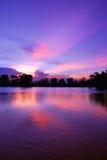 美丽的日落天空和光线 库存照片