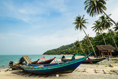 美丽的日落海滩 免版税库存图片