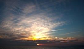 美丽的日落空气 库存图片