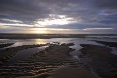 美丽的日落通知 图库摄影